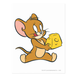 Jerry Likes His Cheese Postcard