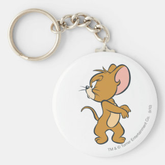 Jerry Looking Back Annoyed Basic Round Button Keychain