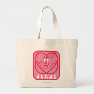 Jerry Pink Hearts Large Tote Bag