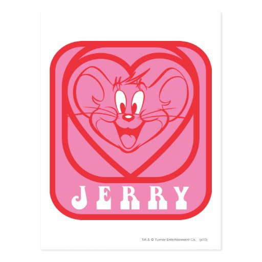 Jerry Pink Hearts Post Card