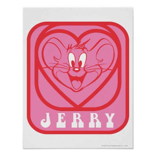 Jerry Pink Hearts Poster