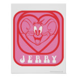 Jerry Pink Hearts Print