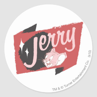 Jerry Red and Black Logo Classic Round Sticker