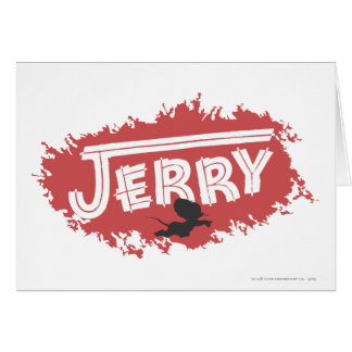 Jerry Silhouette Logo Card