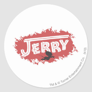 Jerry Silhouette Logo Classic Round Sticker