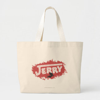 Jerry Silhouette Logo Large Tote Bag