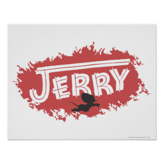 Jerry Silhouette Logo Poster