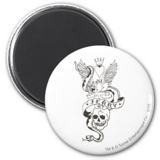 Jerry Twisted Tattoo 1 2 Inch Round Magnet