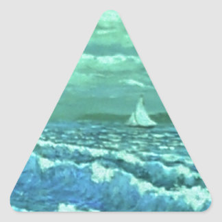 Jerry's Bay by Ave Hurley Triangle Sticker