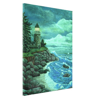 Jerry's Lighthouse by Ave Hurley/ArtRave AH-001 Canvas Print