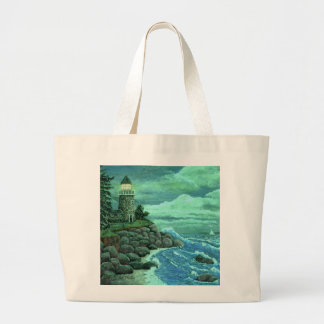 JERRYS LIGHTHOUSE by Ave Hurley Tote Bags