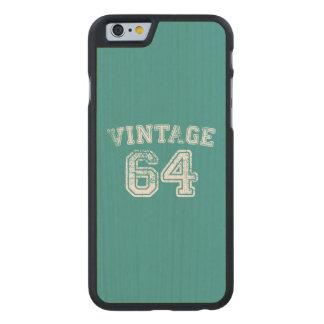 Jersey 1964 del vintage funda de iPhone 6 carved® de arce