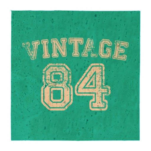 Jersey 1984 del vintage posavasos