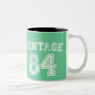 Jersey 1984 del vintage taza dos tonos
