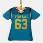 Jersey 63 V1 del fútbol del azul y del oro Ornamento Para Reyes Magos