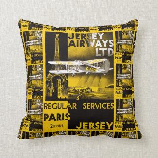 Jersey Airways Throw Pillow