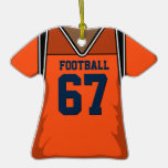Jersey anaranjado y azul 67 V2 del fútbol Ornamentos De Reyes Magos
