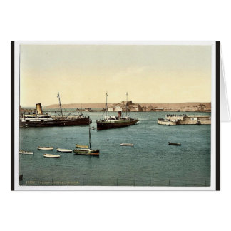 Jersey, arrival of boats, St. Heliers, Channel Isl Greeting Cards