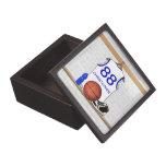 Jersey azul blanco personalizado del baloncesto cajas de joyas de calidad