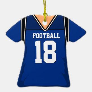 Jersey azul marino personalizado 18 V1 del fútbol Adorno De Cerámica En Forma De Camiseta