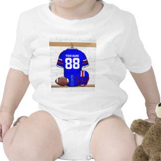 Jersey azul personalizado del hierro de la rejilla trajes de bebé