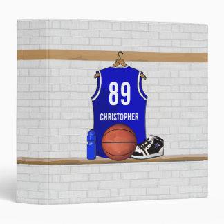 """Jersey azul y blanco personalizado del baloncesto carpeta 1 1/2"""""""