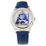Jersey azul y blanco personalizado del hockey relojes de mano