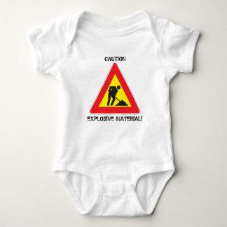 Jersey Baby Bodysuit Caution Explosive Material