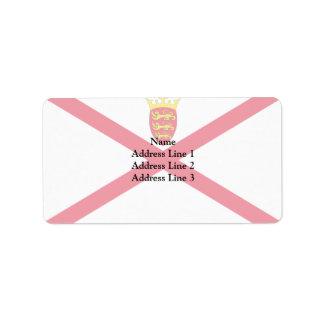 Jersey, bandera de Japón Etiquetas De Dirección