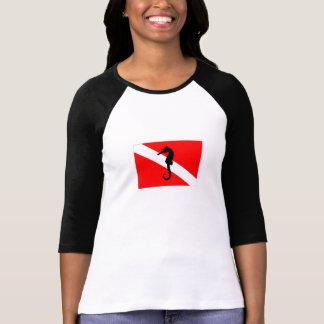 jersey - bandera de la zambullida del seahorse camiseta