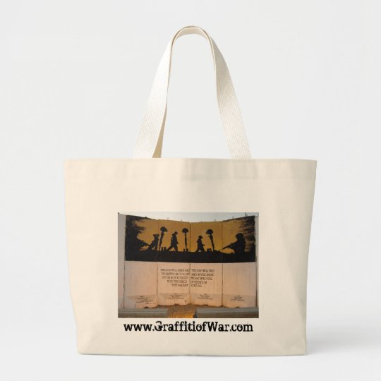 Jersey Barrier Memorial/Garfield Quote Large Tote Bag