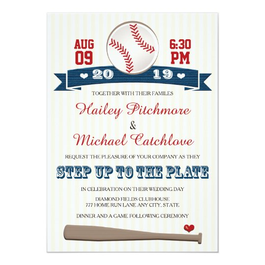 Jersey Baseball Themed Wedding Invitations Zazzlecom