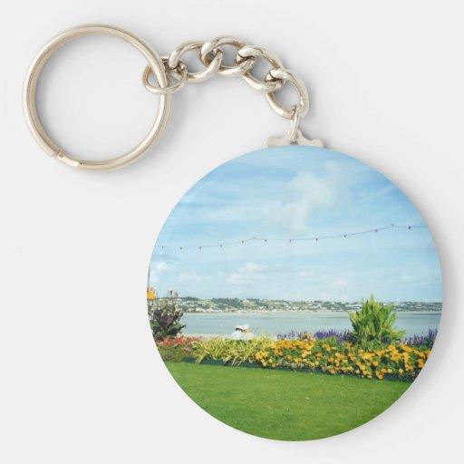 Jersey Basic Round Button Keychain