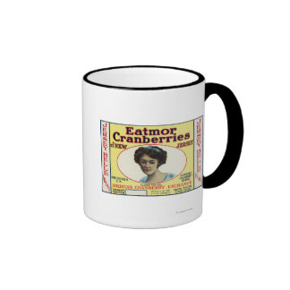 Jersey Belle Eatmor Cranberries Brand Label Coffee Mugs