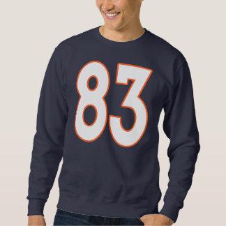 Jersey blanco y anaranjado número 83 pulóver sudadera