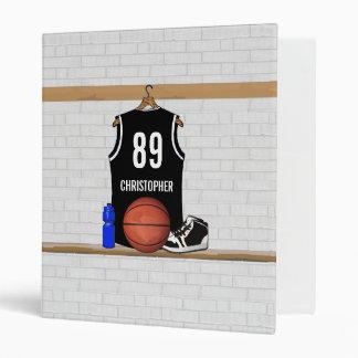 """Jersey blanco y negro personalizado del baloncesto carpeta 1"""""""