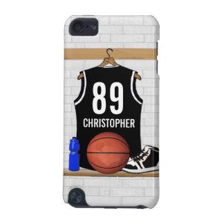 Jersey blanco y negro personalizado del baloncesto funda para iPod touch 5G
