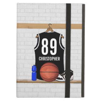 Jersey blanco y negro personalizado del baloncesto