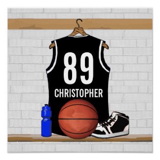 Jersey blanco y negro personalizado del baloncesto impresiones