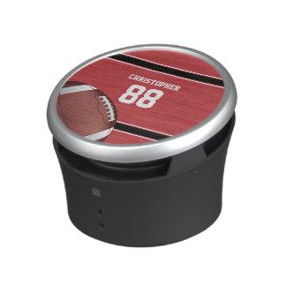 Jersey blanco y negro rojo del fútbol de las rayas altavoz bluetooth