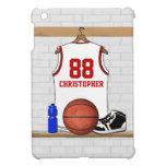 Jersey blanco y rojo personalizado del baloncesto