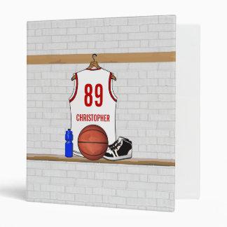"""Jersey blanco y rojo personalizado del baloncesto carpeta 1"""""""