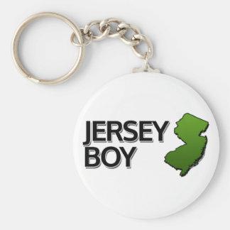Jersey Boy Basic Round Button Keychain