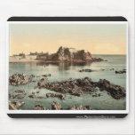 Jersey, castillo de Elizabeth, St. Heliers, canal  Tapetes De Raton