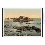 Jersey, castillo de Elizabeth, St. Heliers, canal  Felicitacion