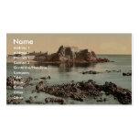 Jersey, castillo de Elizabeth, St. Heliers, canal  Tarjetas De Negocios