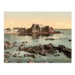 Jersey, castillo de Elizabeth, St. Heliers, canal  Tarjetas Postales