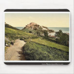 Jersey, castillo de Mont Orgueil, isla de canal, E Alfombrillas De Ratones