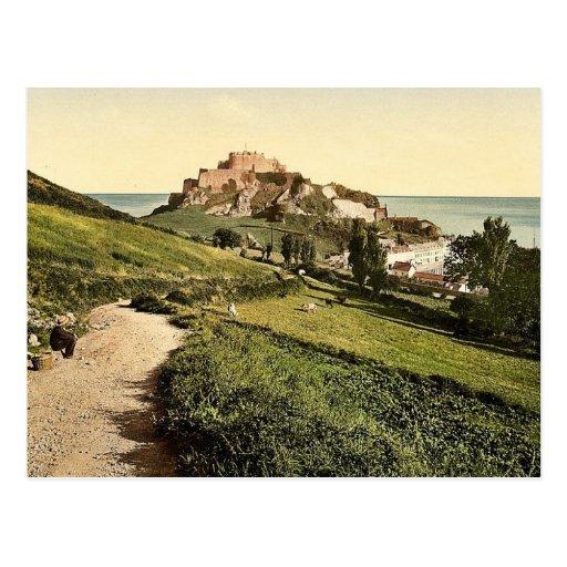 Jersey, castillo de Mont Orgueil, isla de canal, E Postales