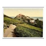 Jersey, castillo de Mont Orgueil, isla de canal, E Tarjetas Postales
